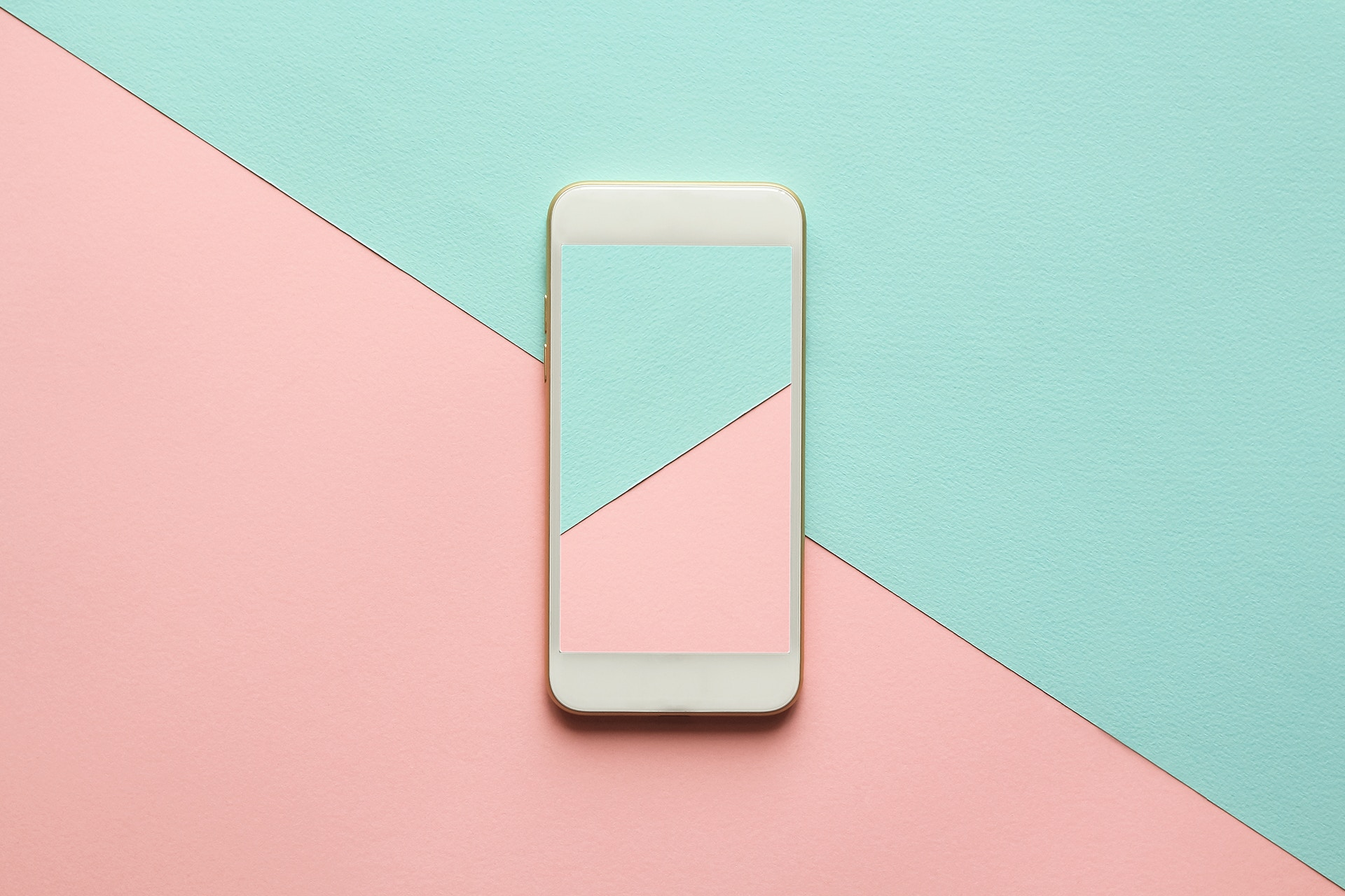 Phone with two opposite colors in angular pattern. Tips for getting out from under an Instagram shadowban