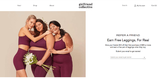 Girlfriend Collective reward program.