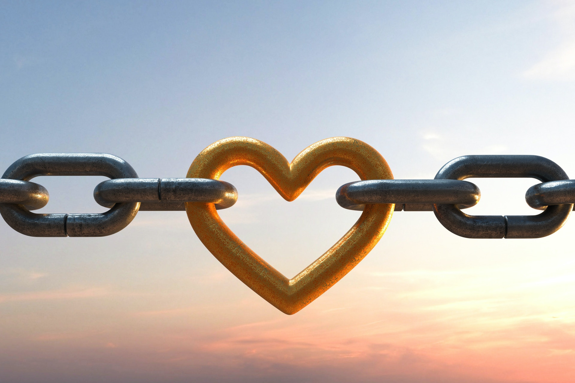 A heart on a chain