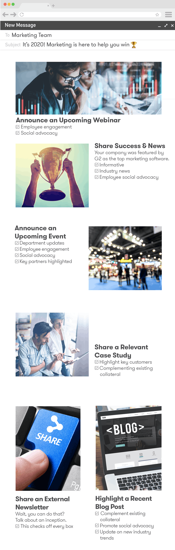 Man sieht den Meltwater Newsletter als Beispiel für einen internen Newsletter innerhalb eines Unternehmens. Dies ist ein Template/Mockup, an dem ihr euch orientieren könnt.