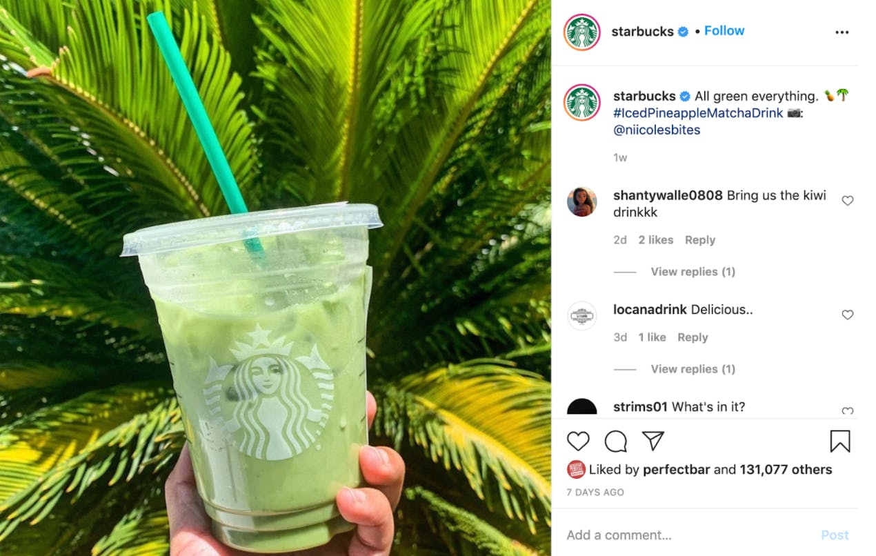 A customer's review of a Starbuck drink