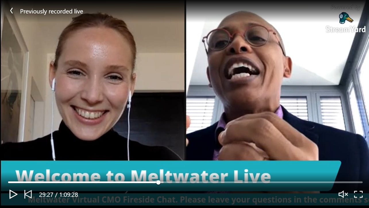future of marketing linkedin live on meltwater