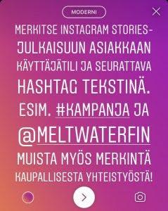 Instagram stories -julkaisu