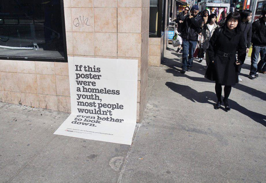 Rasing the Roof: Homeless youth poster
