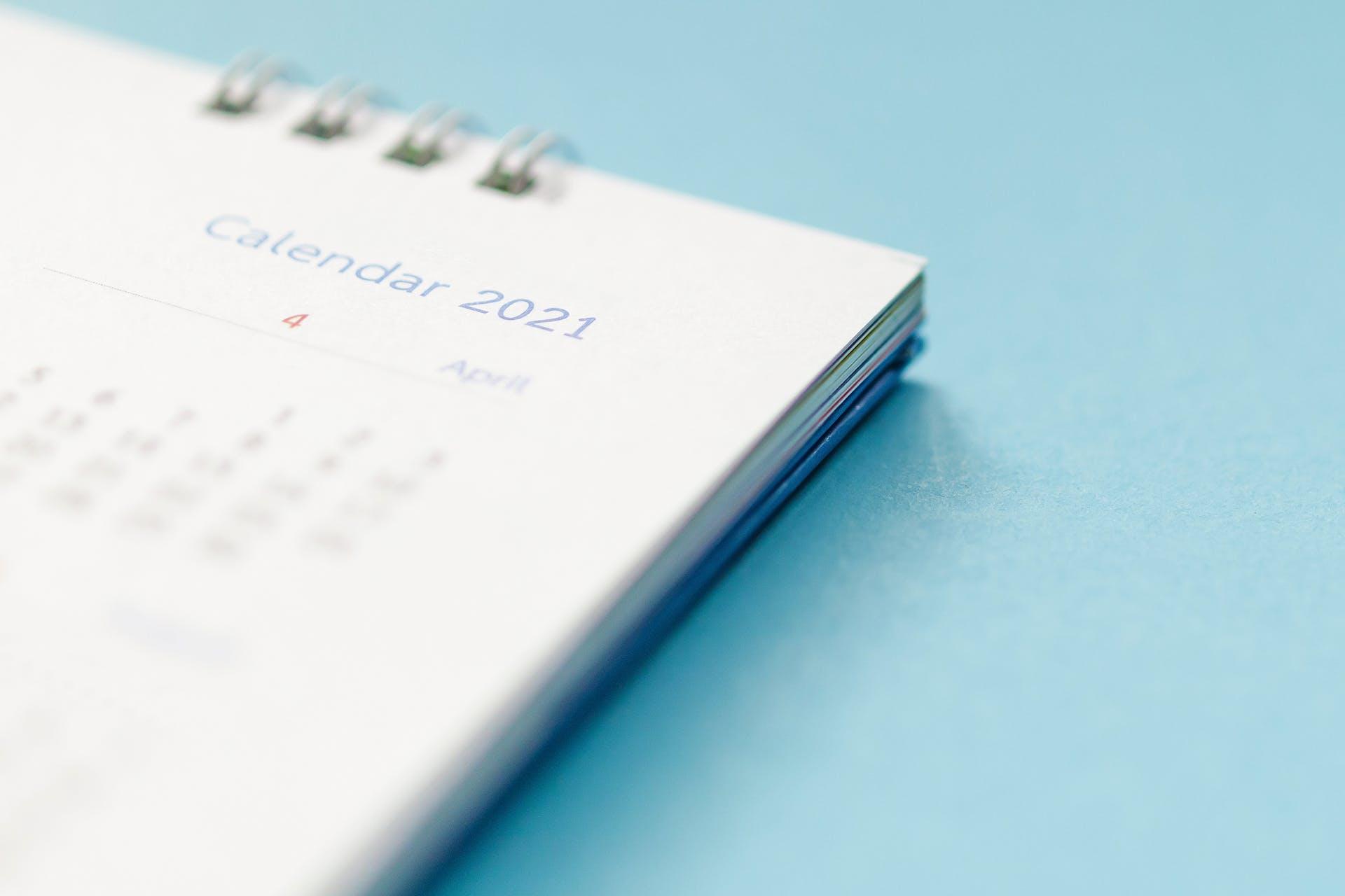 National Days calendar for 2021