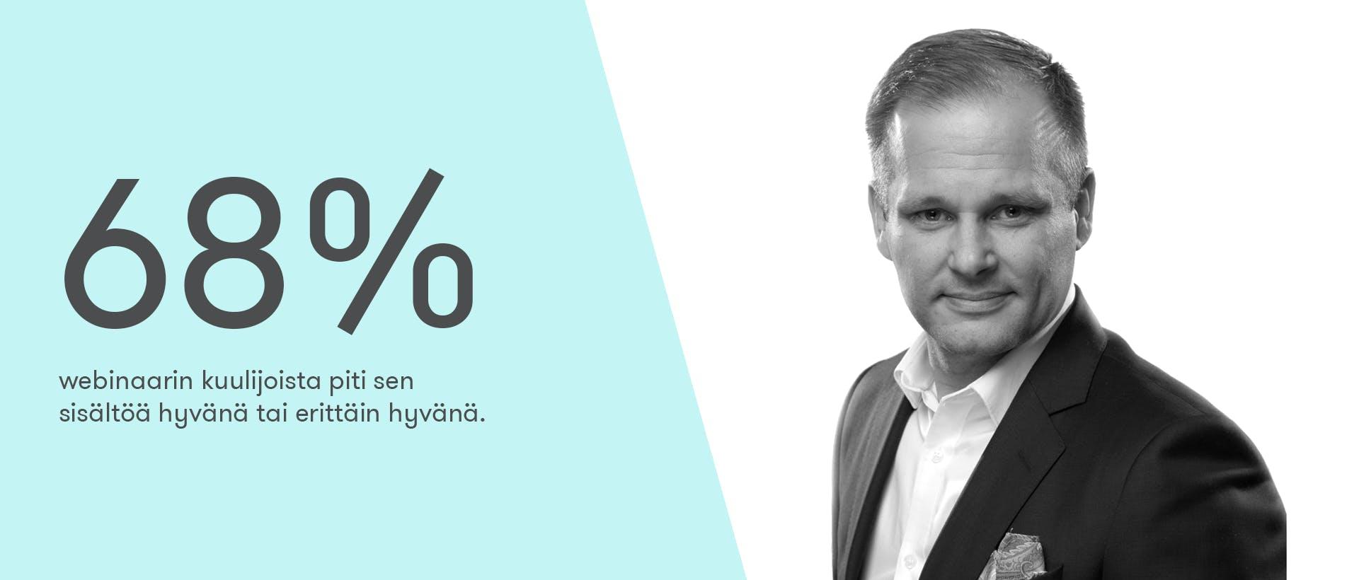 """68% """"Näin toteutat toimivaa kansainvälistä viestintää"""" -webinaarin kuulijoista piti sen sisältöä hyvänä tai erittäin hyvänä."""