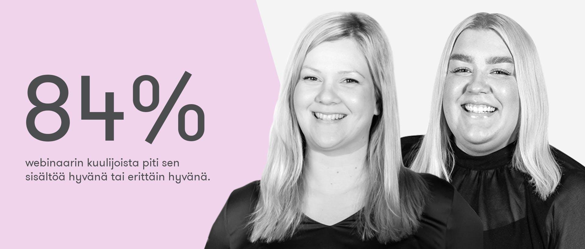 84% TikTok-webinaarin kuulijoista piti sen sisältöä hyvänä tai erittäin hyvänä