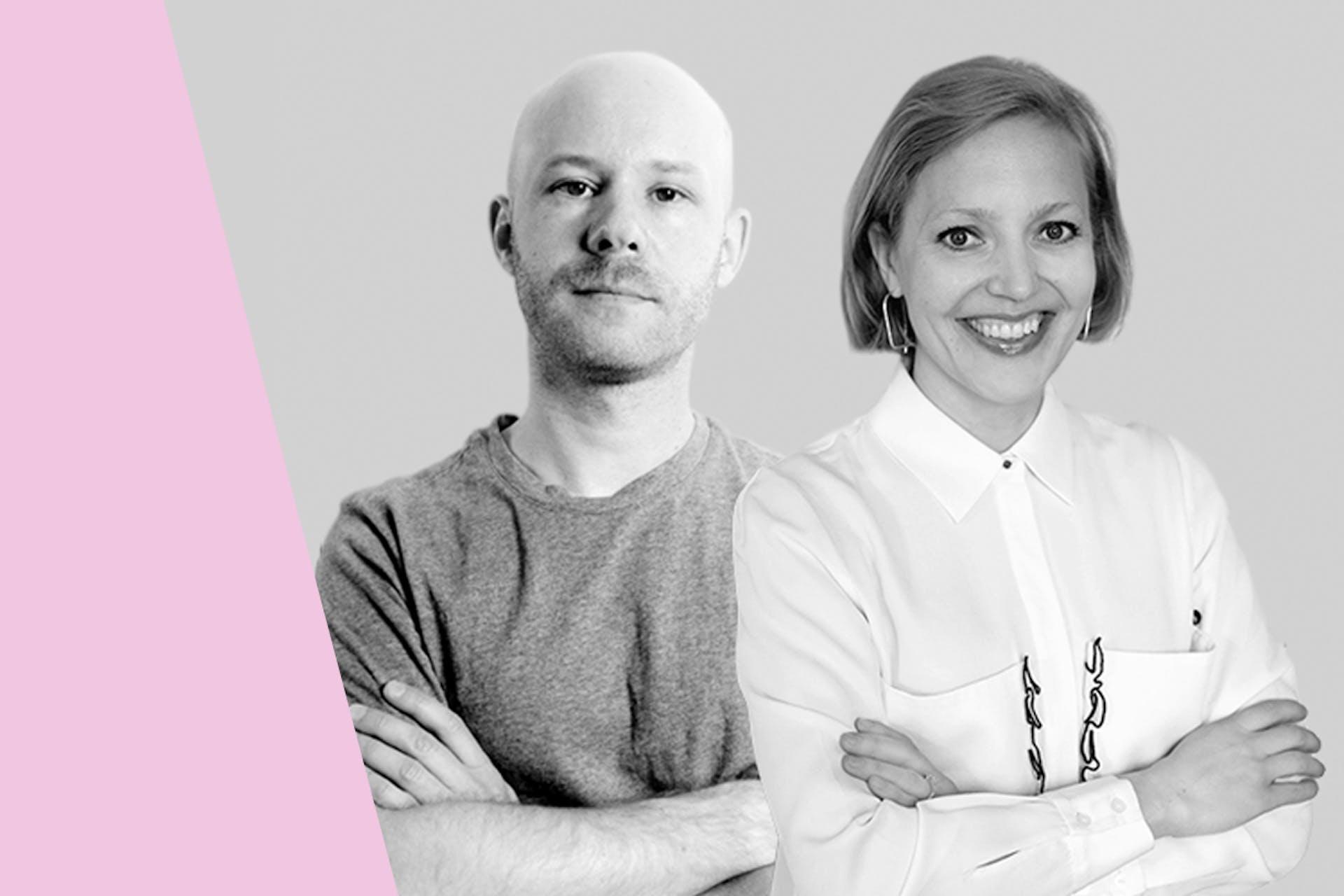 Luova konsepti tuloksen tekijänä -webinaarin puhujat Heli Hytönen ja Jarkko Kutilainen