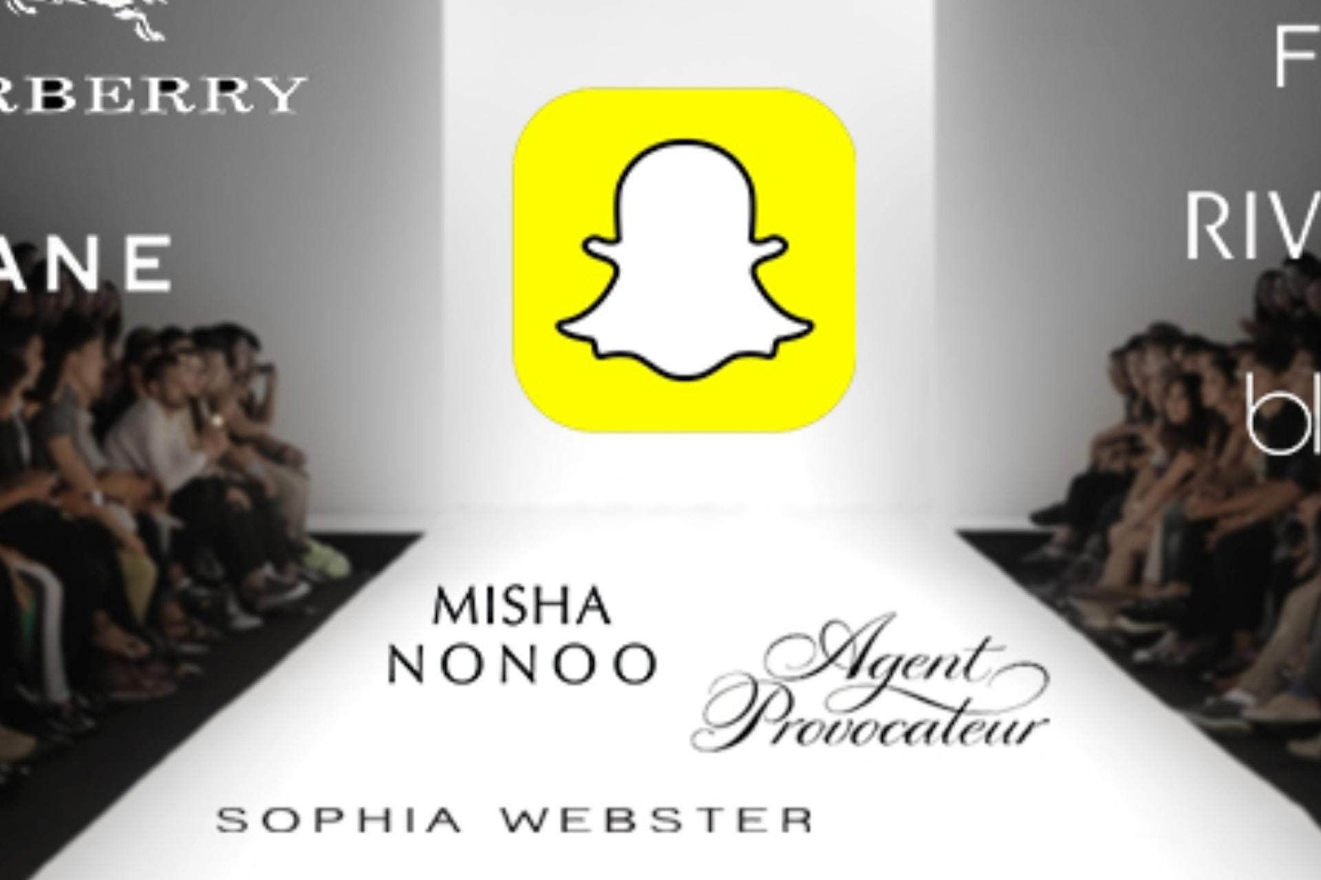 Fashion brands snapchat runway