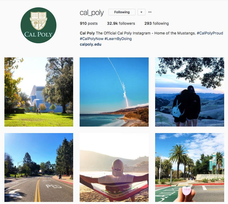 Cal Poly Instagram feed