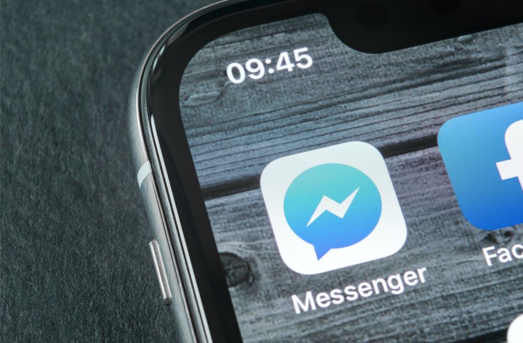 Icône de l'application Facebook Messenger sur téléphone portable
