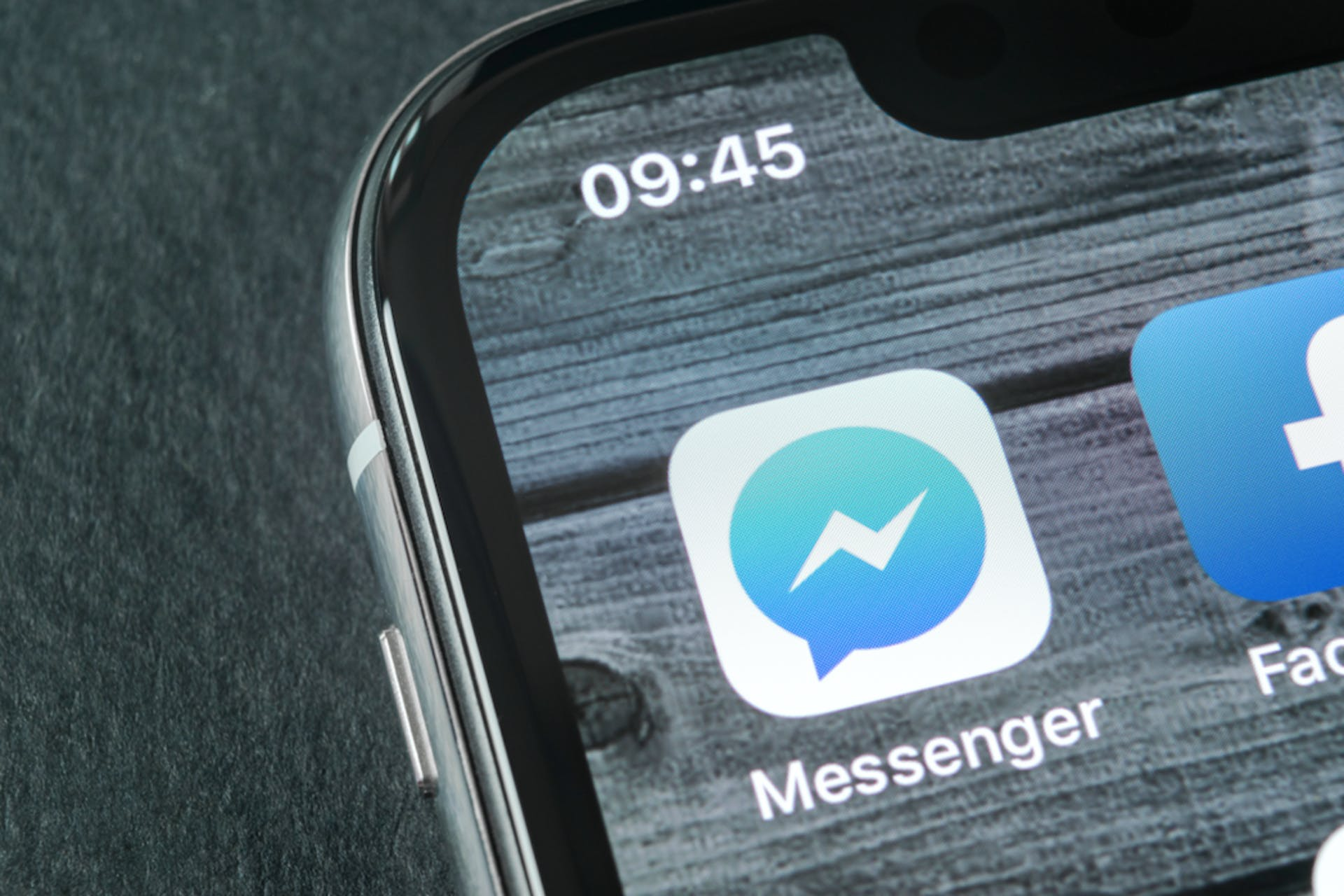 Facebook Messenger app icon on a phone