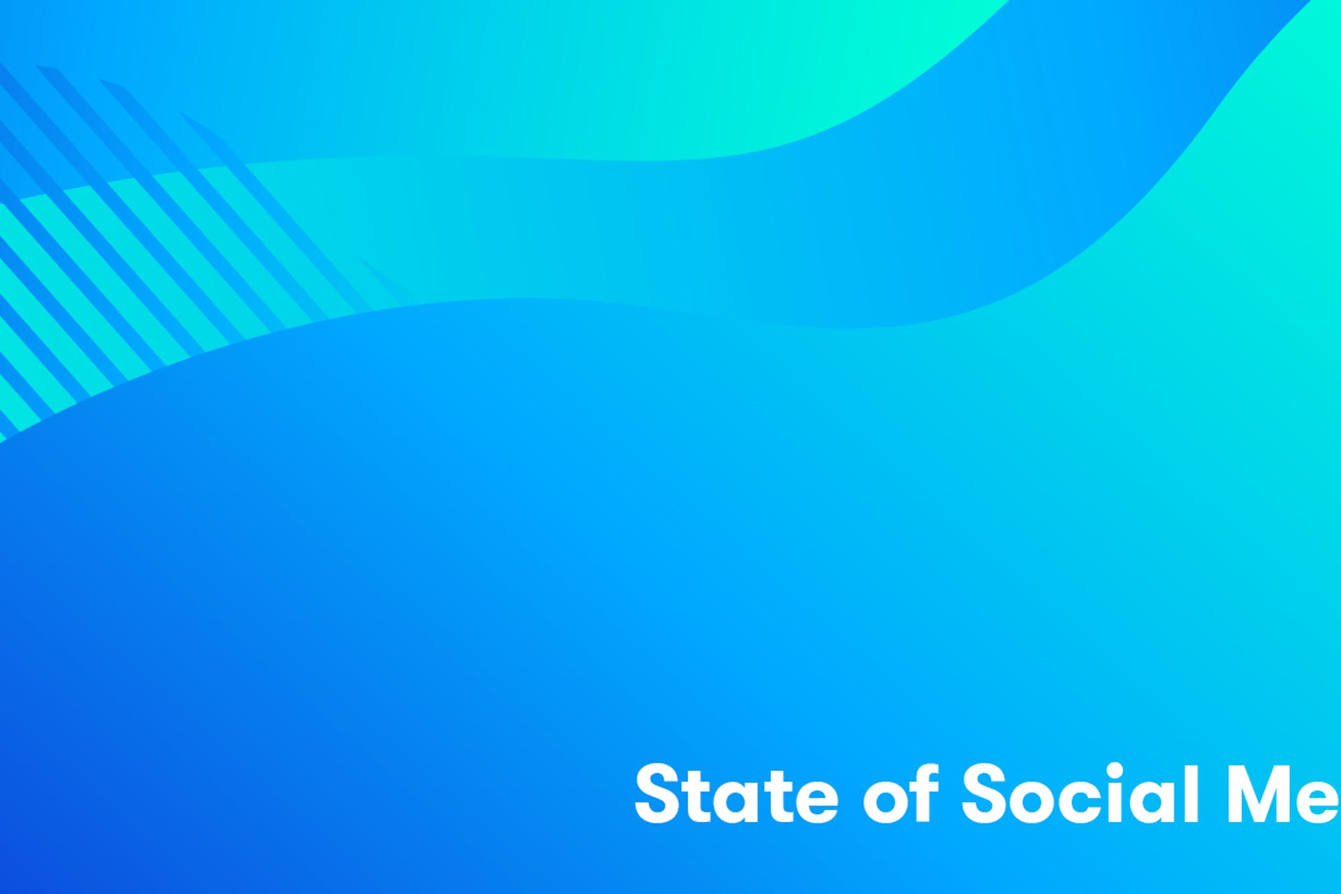 State of Social media report