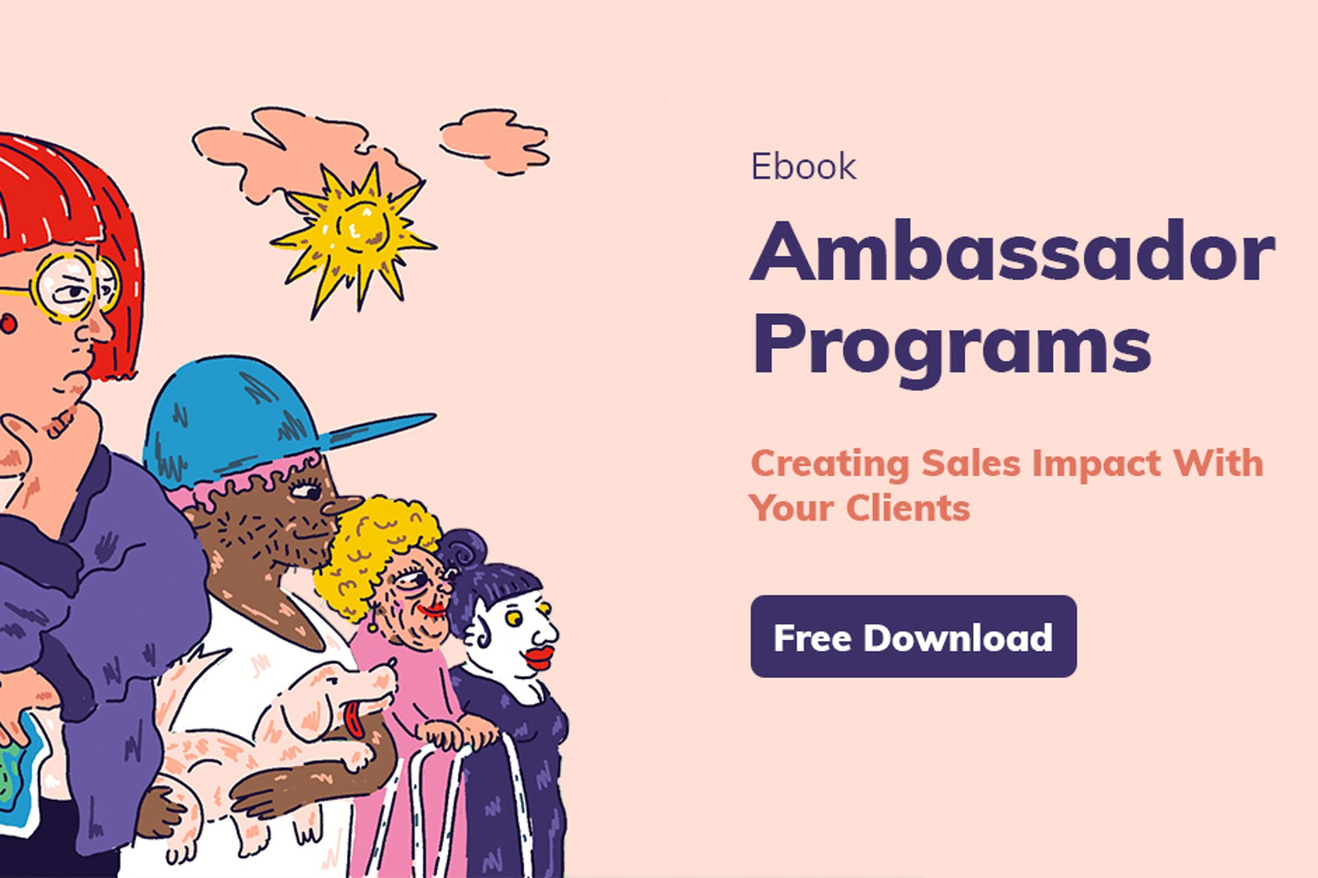 Cover image of the Klear and Meltwater ebook about Ambassador Programs
