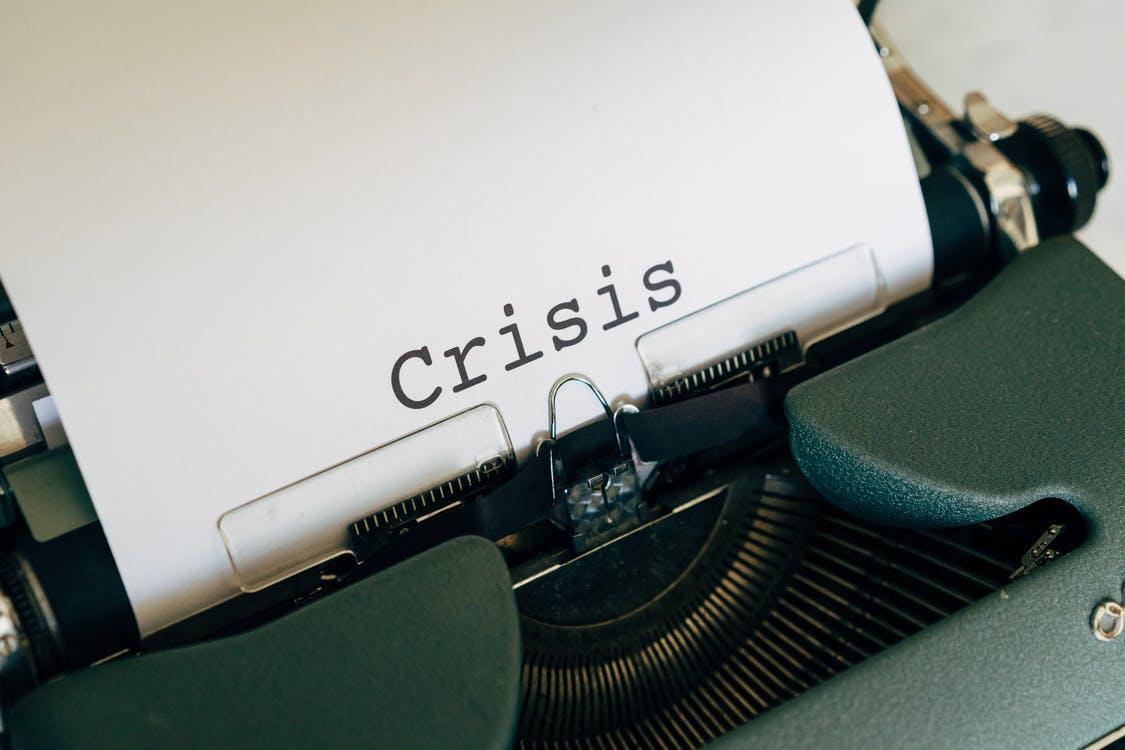 crisis typewriter