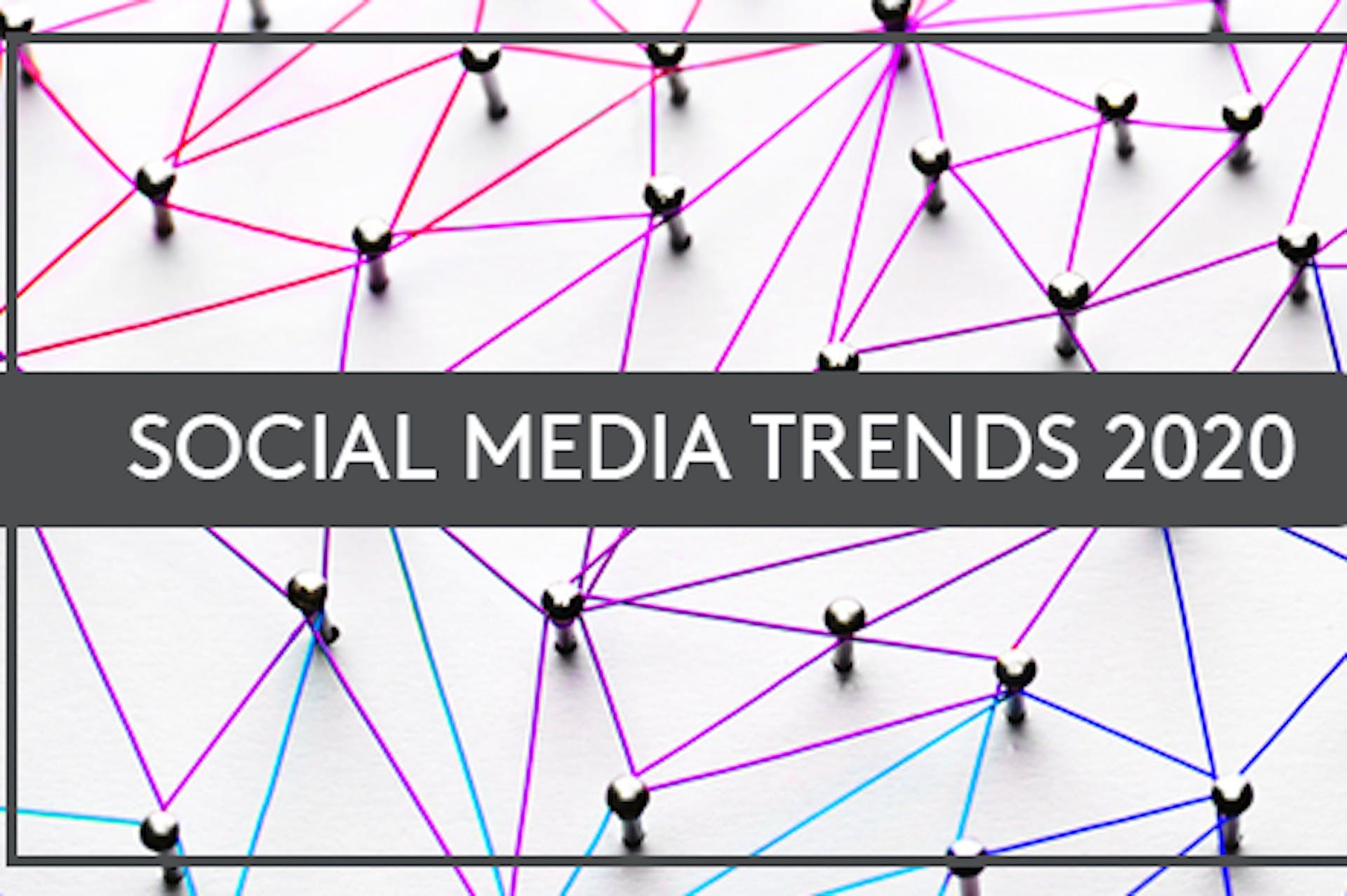 Vernetzte Nägel Aufschrift Social Media Trends 2020