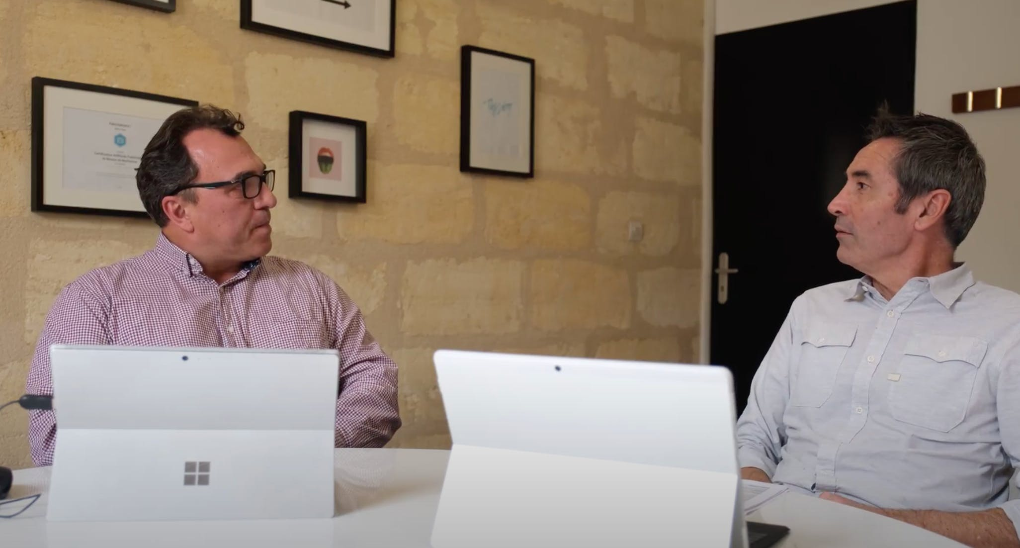 Yann Rambaud, fondateur de Vertical Square et Frédéric Mengeot, fondateur de B52.