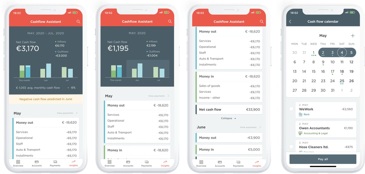 PFM app interface - this is the Meniga customer facing PFM solution in Iceland.