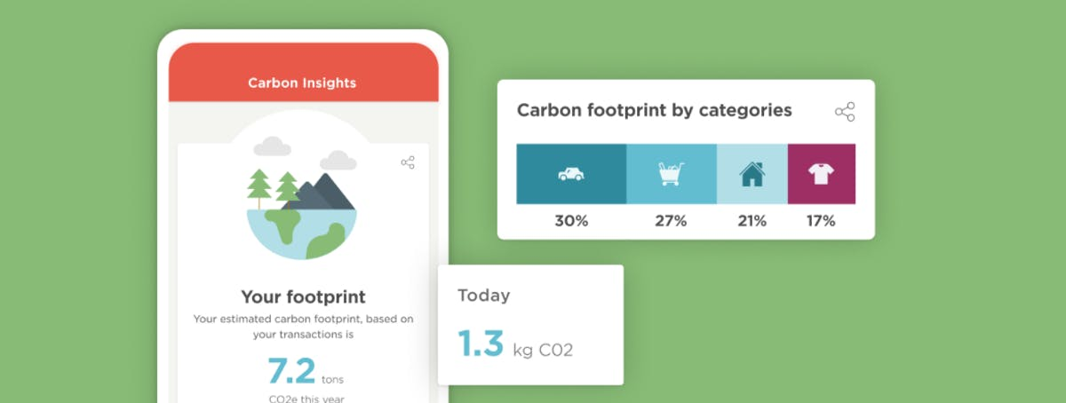 Meniga's Carbon Insights solution — designed to empower banking customers to understand and take action against their carbon footprint