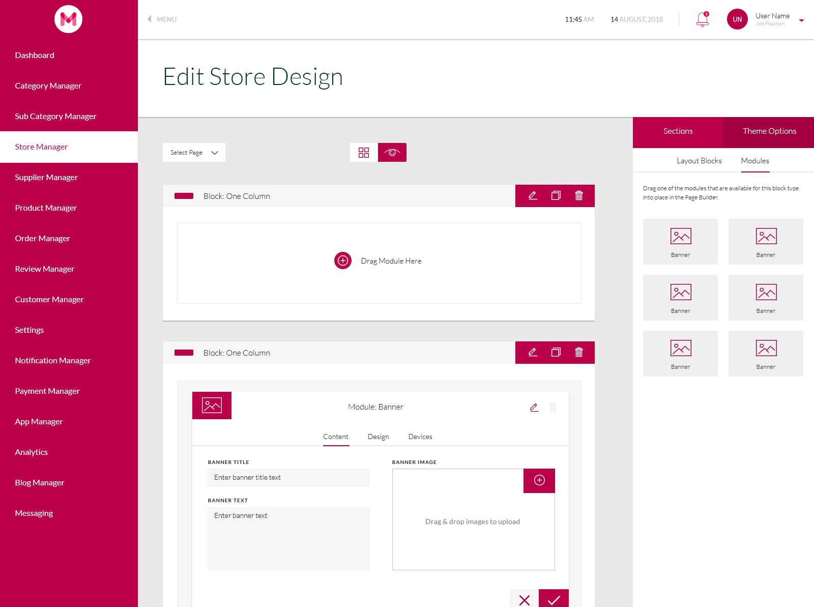 3/5: Use the store builder