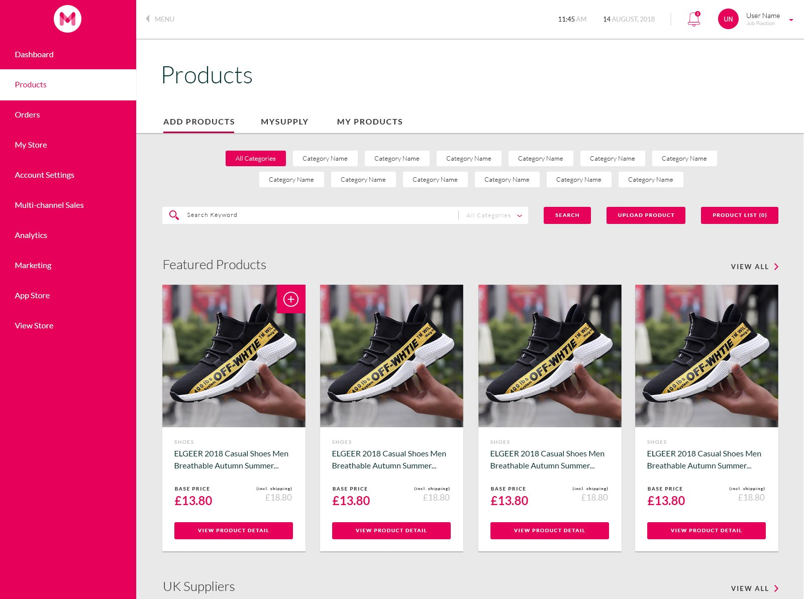 2/5: Start adding products to your import list