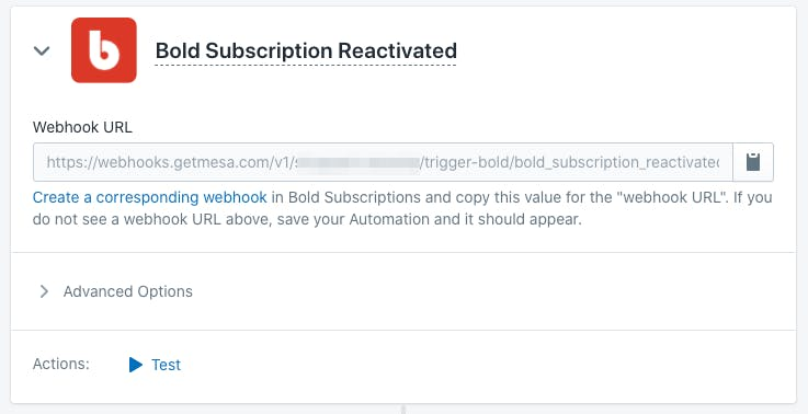 Bold Subscriptions Trigger in Mesa