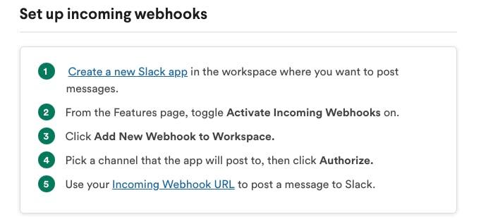 Slack Webhooks Directions
