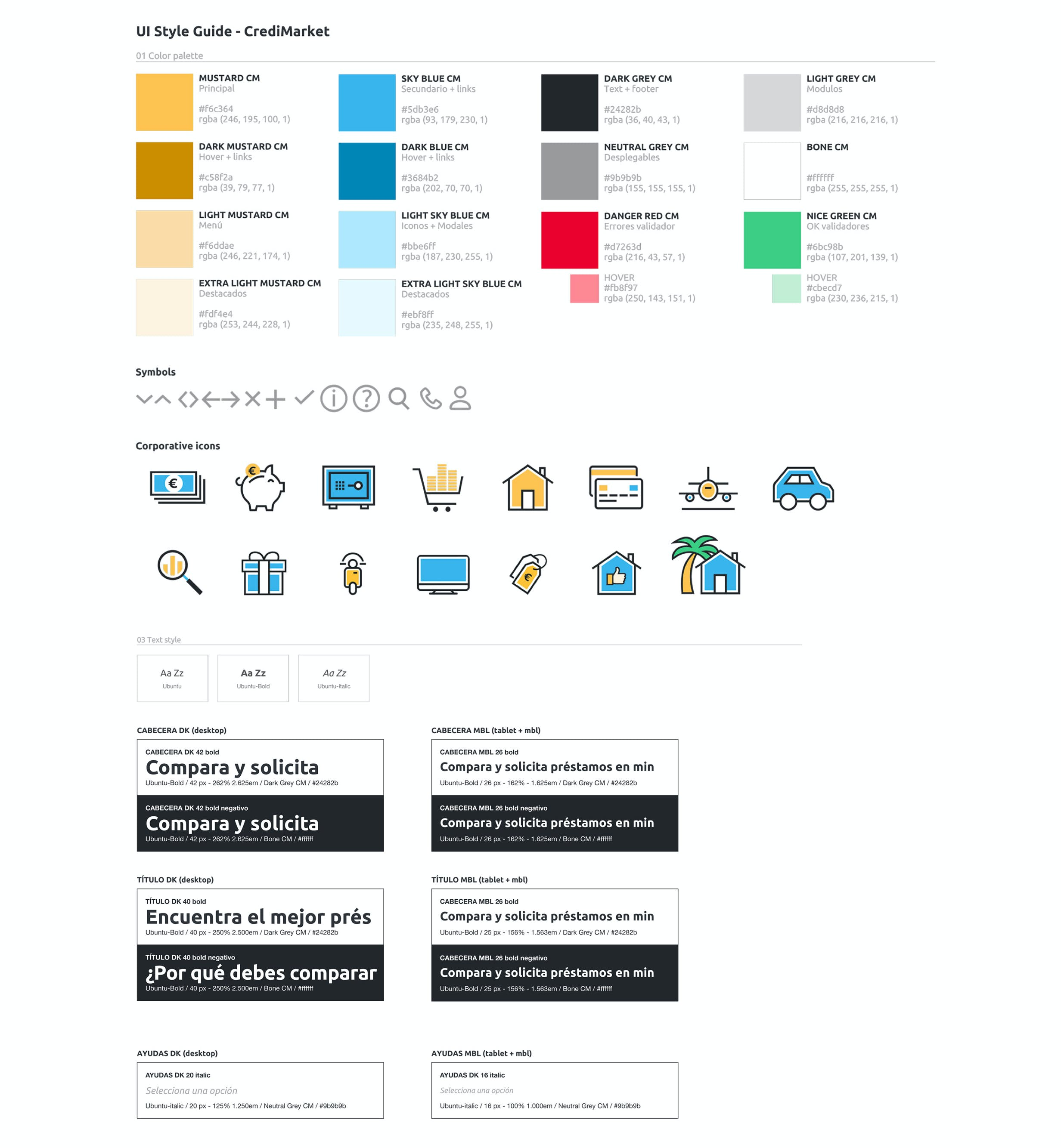 Design System of CrediMarket by Metakitrina