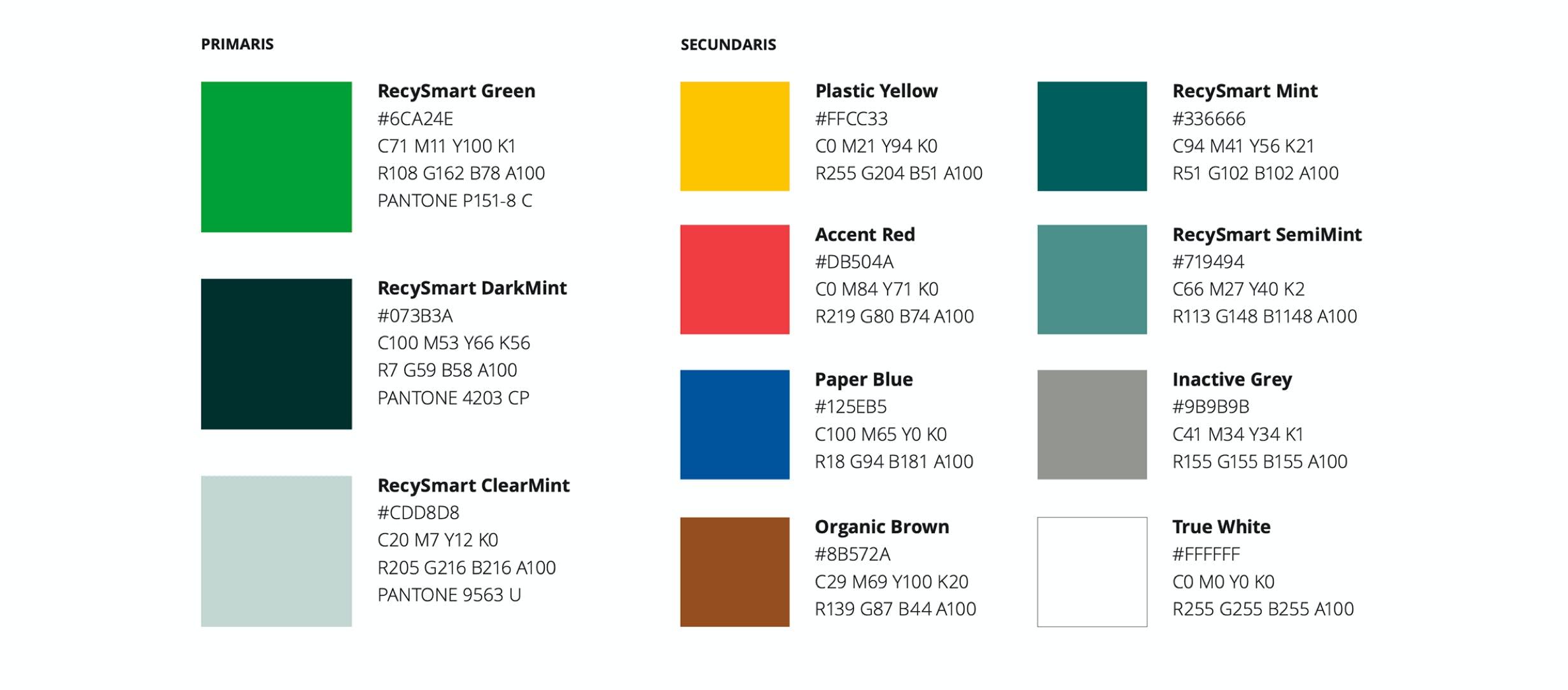 RecySmart Brand colors by Metakitrina
