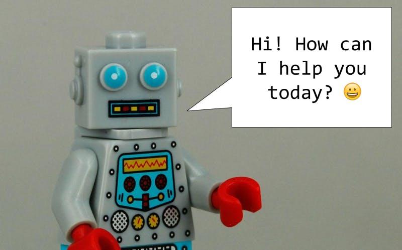 Lego bot chatting
