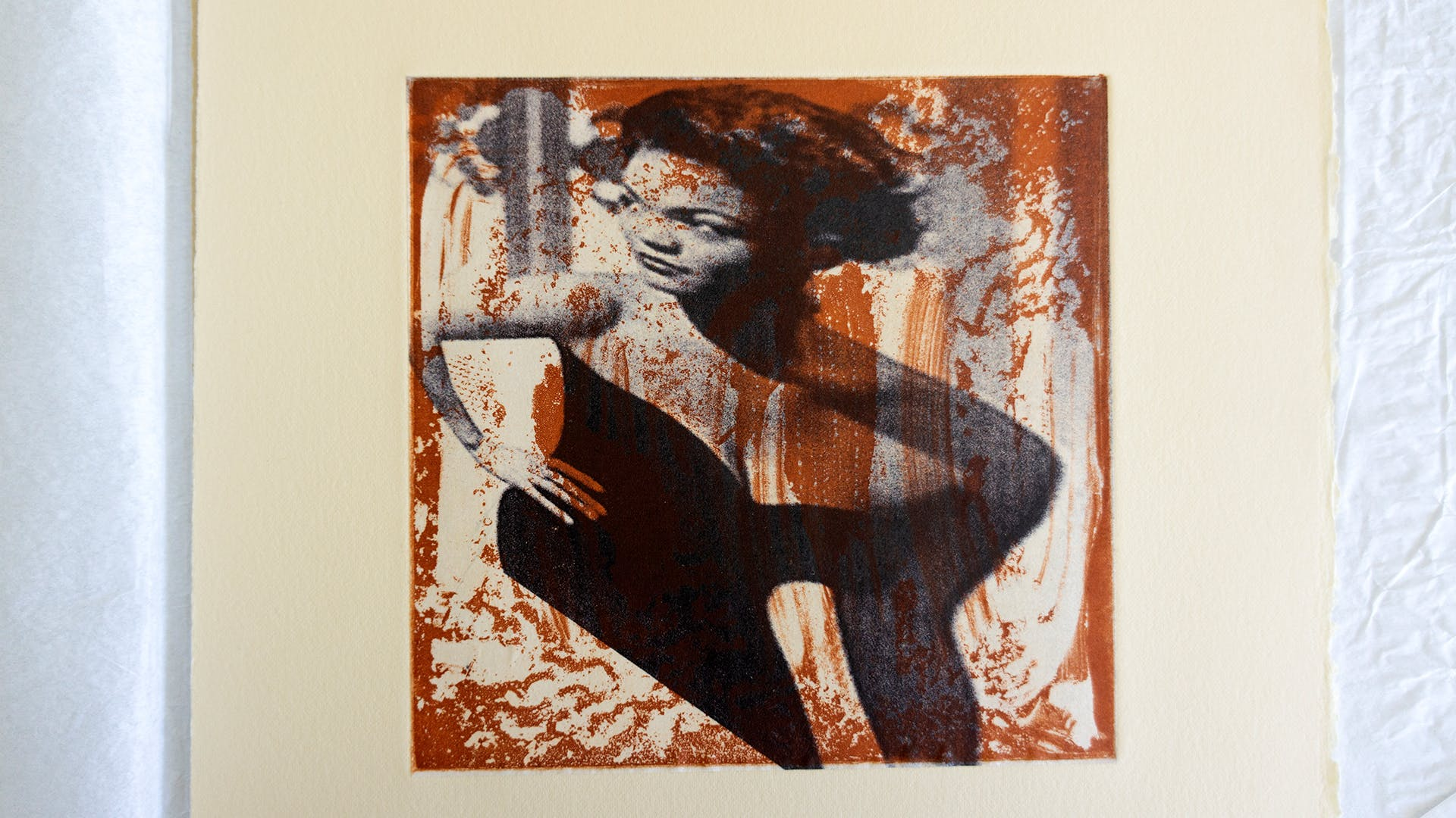 """Fun House Eartha"" / Aquatint Etching with Chine-collé on BFK Reeves / Personal"