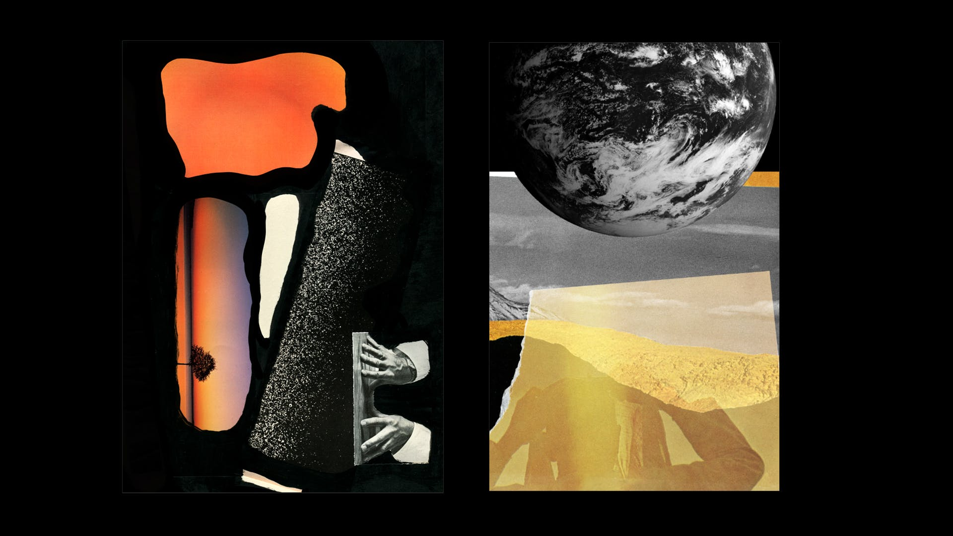 """Memoirs of an Illuminating Spirit"" / Collage Paintings / For Poet Randall D. Washington"