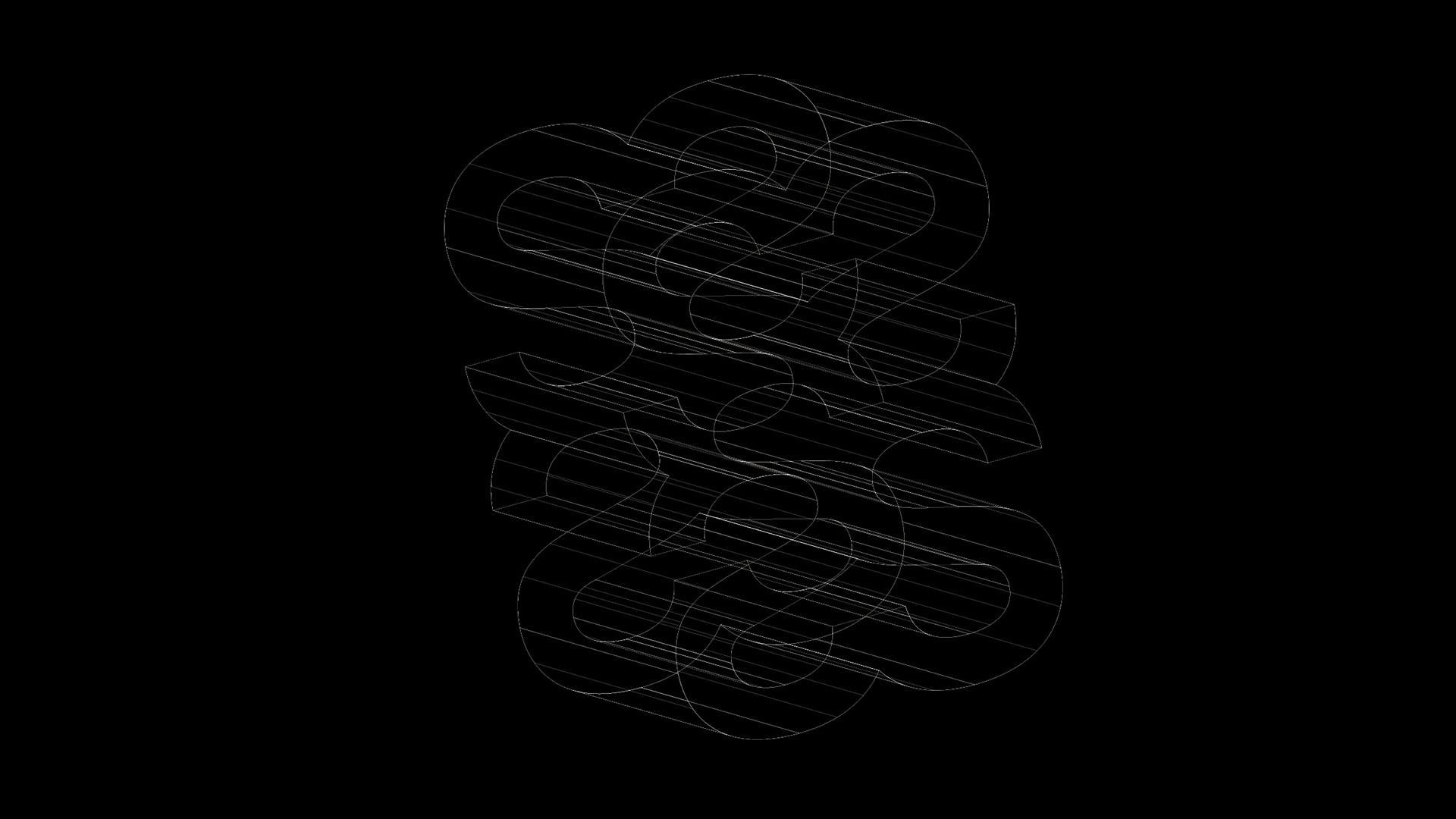 """Wireframe"" / Logo / Sistrum Recordings Detroit"