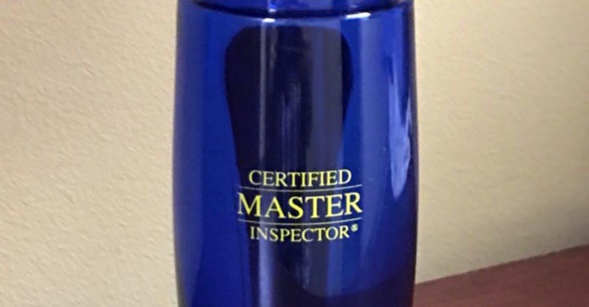 Free Certified Master Inspector®Water Bottle