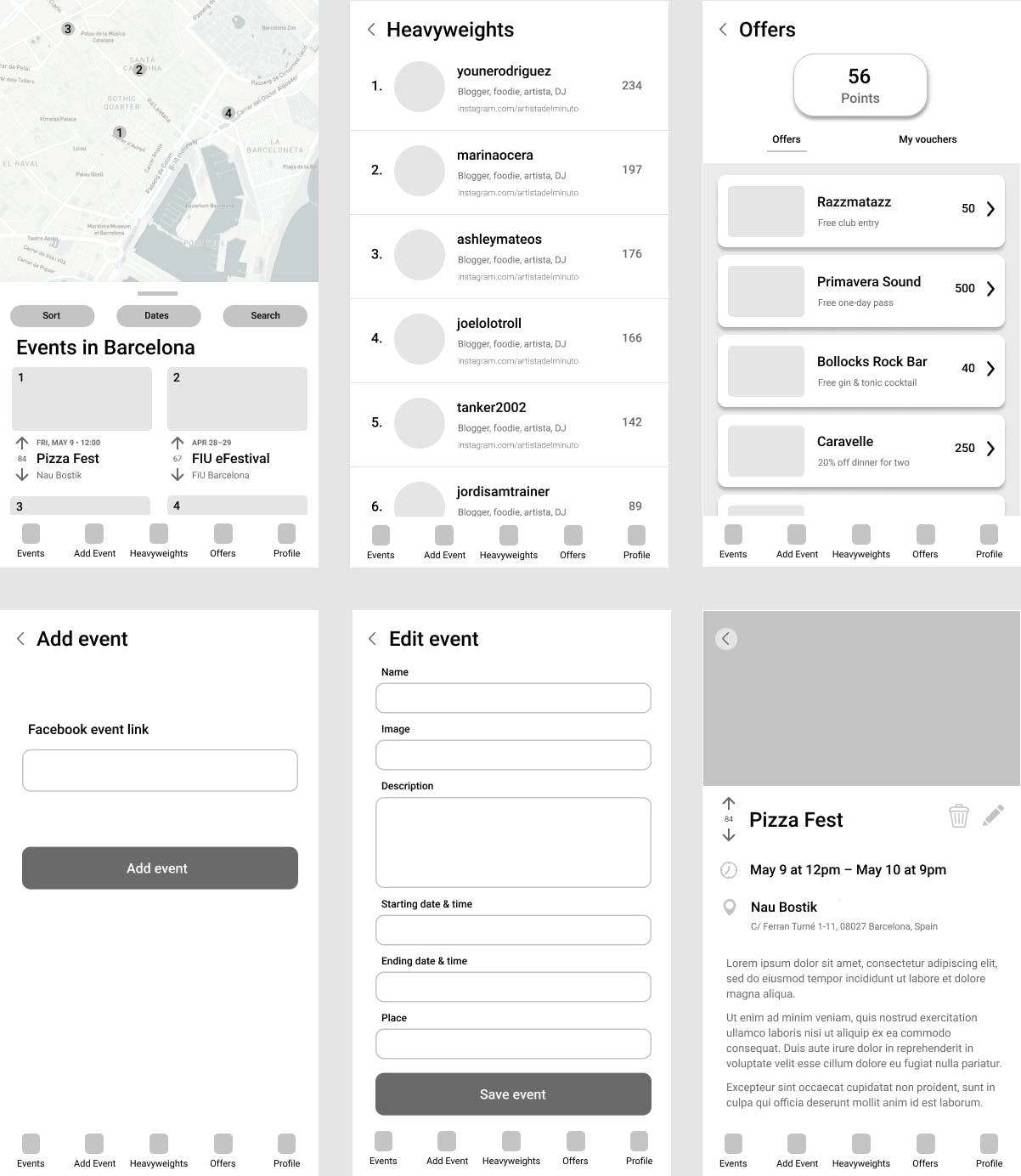 Chicha wireframes in Figma