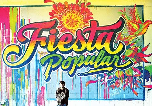Peruvian street art, Fiesta Popular