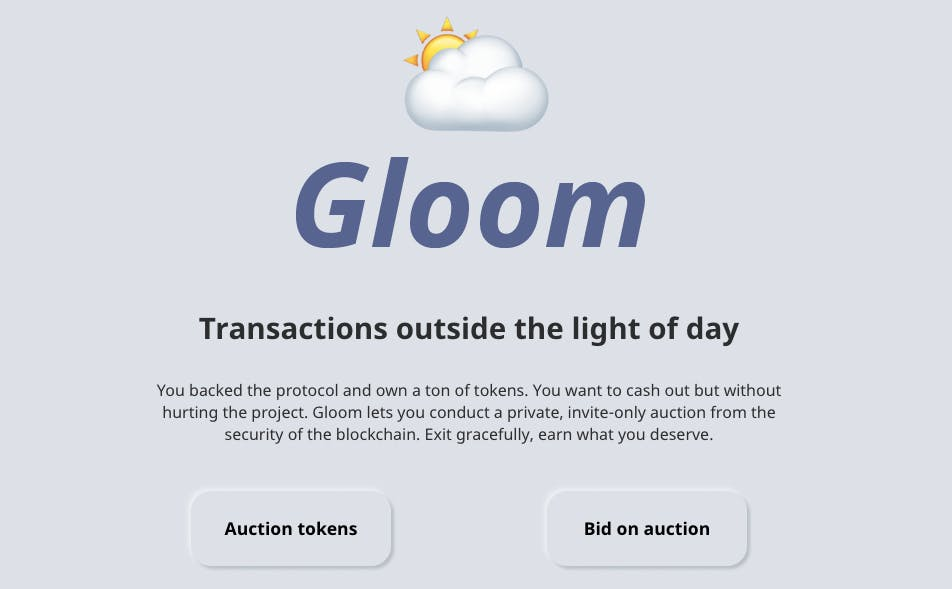 Gloom homepage