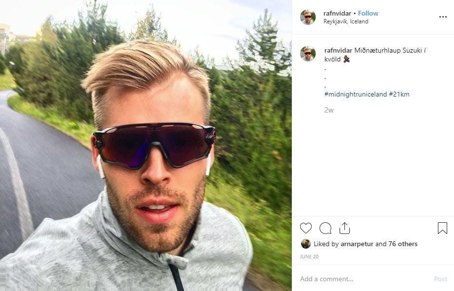 Instagram færsla frá Rafni