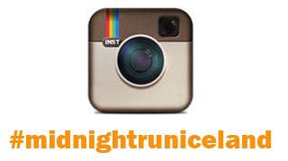 Instagram logo and the hashtag #midnightruniceland