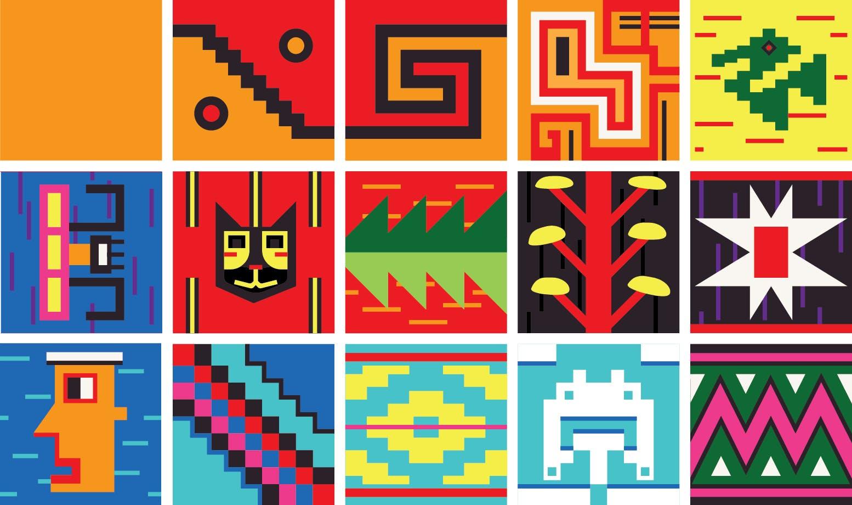 Stafræn Inka munstur