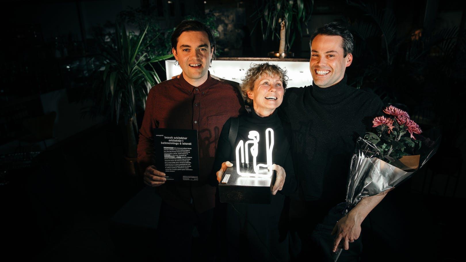 Marcos Zotes, Sigríður Sigþórsdóttir & Hrólfur Karl Cela, the owners of Basalt Architects and the winners of the Icelandic Design Awards 2018. Photo: Sunday & White Photography