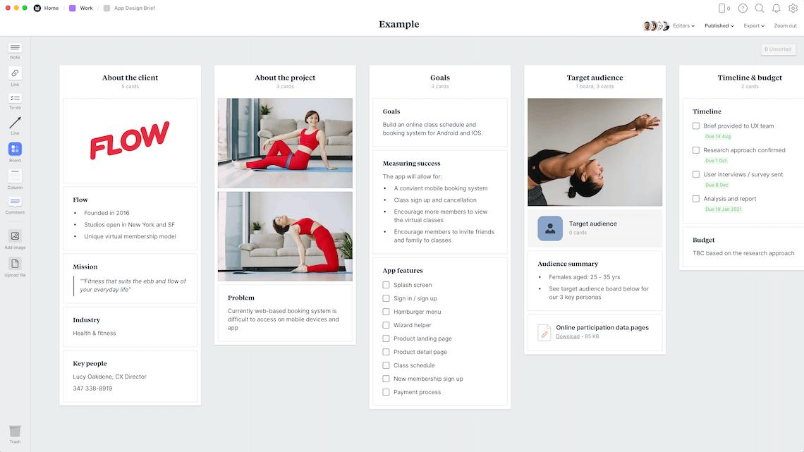 App Design Brief Template & Example - Milanote