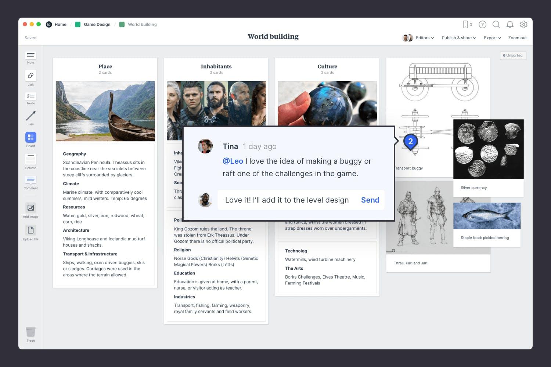 Game design worldbuilding collaboration example