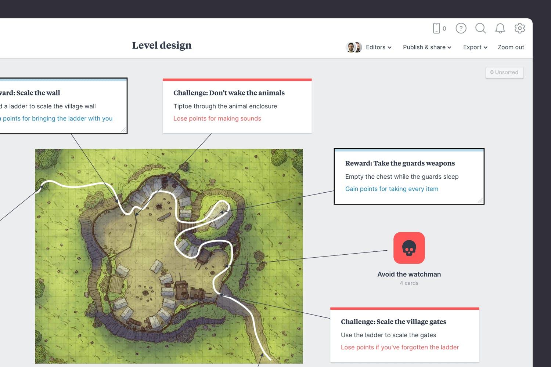 Game level design rewards