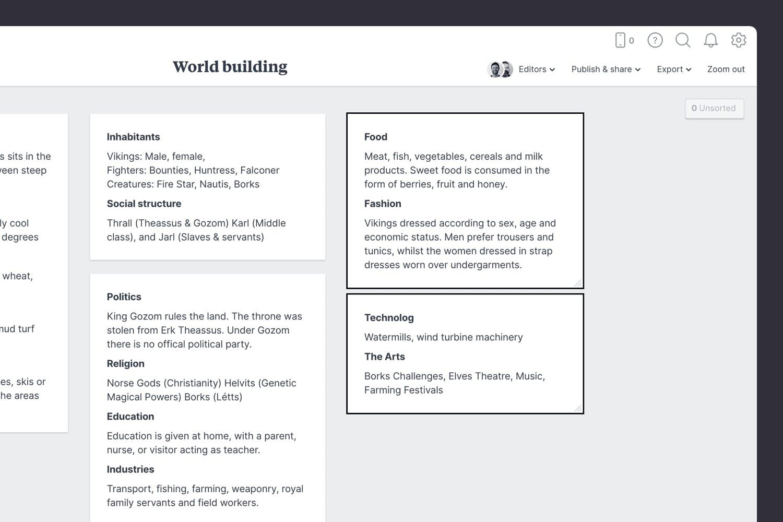 Game design worldbuilding describe the culture