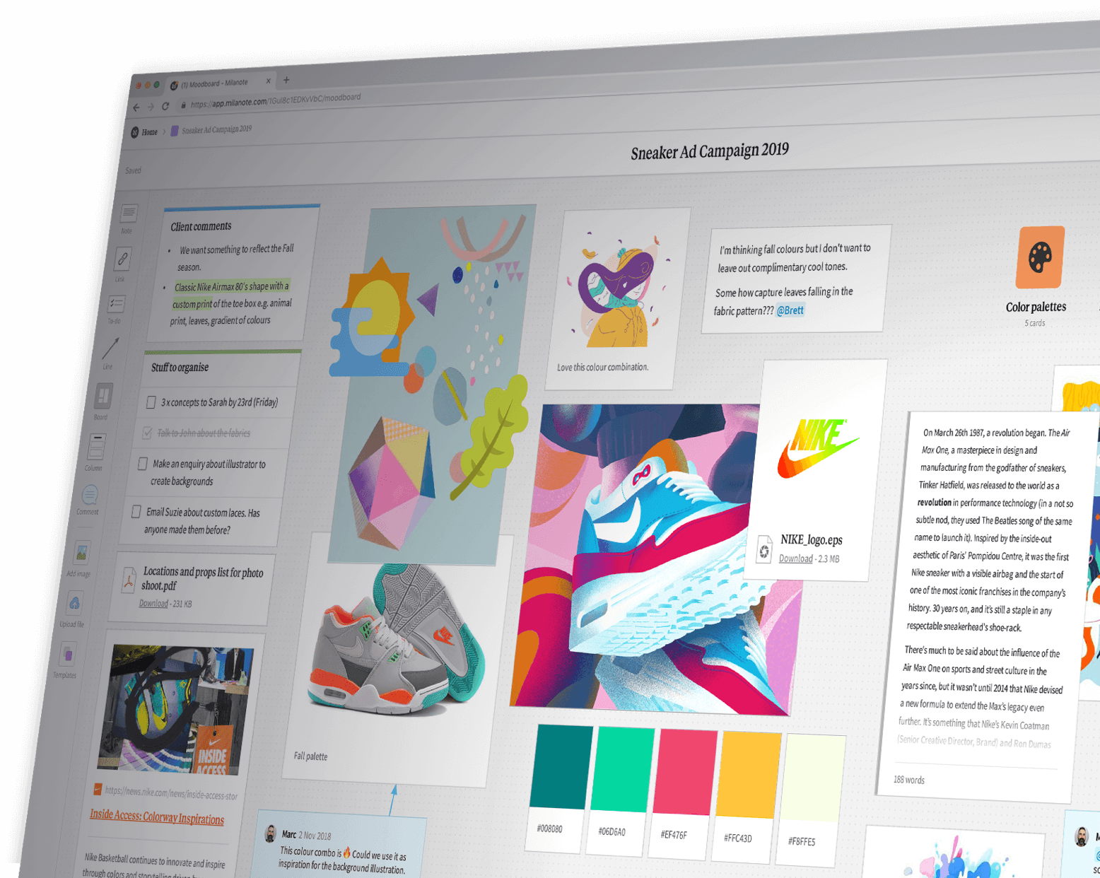 Visual Project Management For Creatives   Milanote