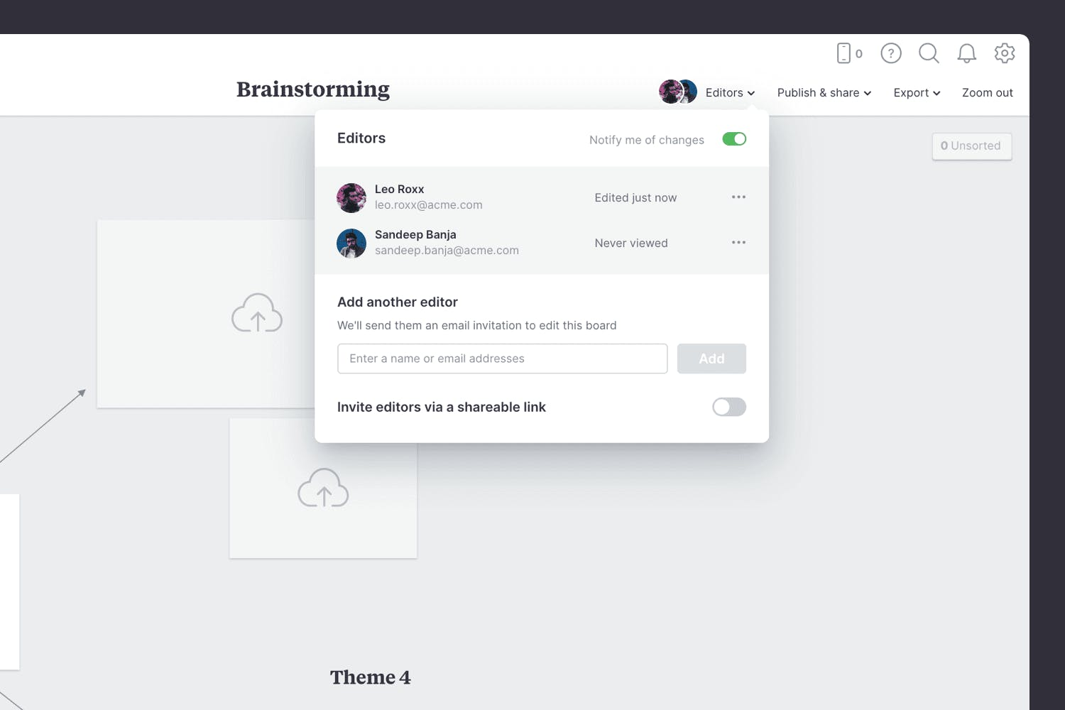 Inviting people to brainstorm game ideas