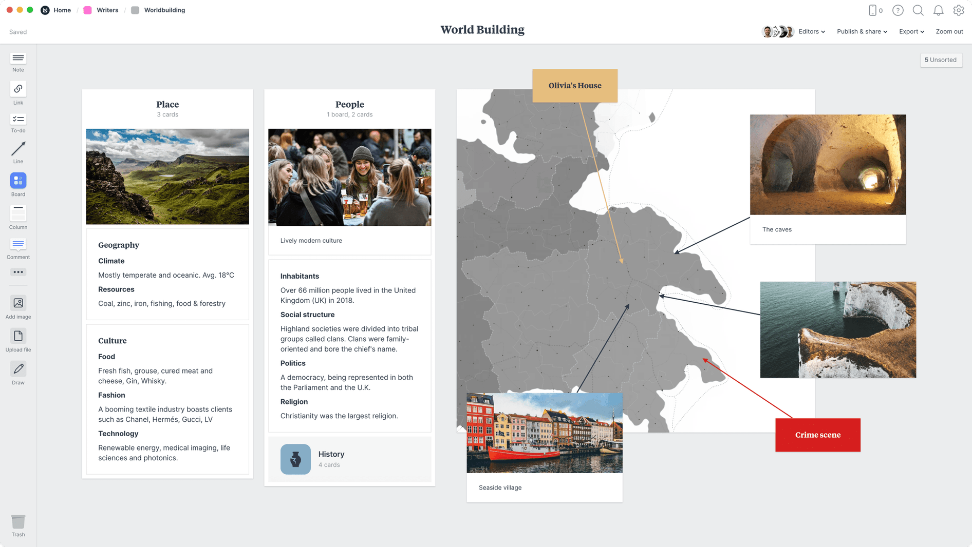 undefined, within the Milanote app