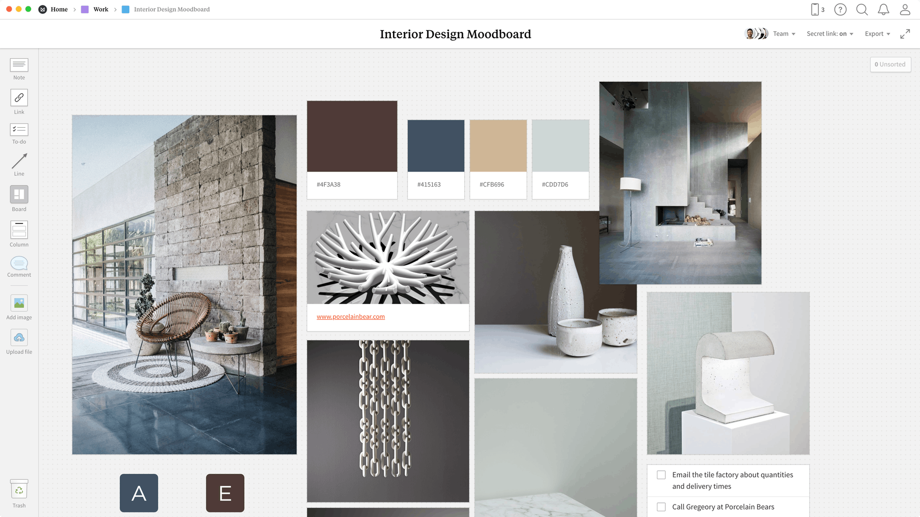 Interior Design Brief Template Example Project Milanote