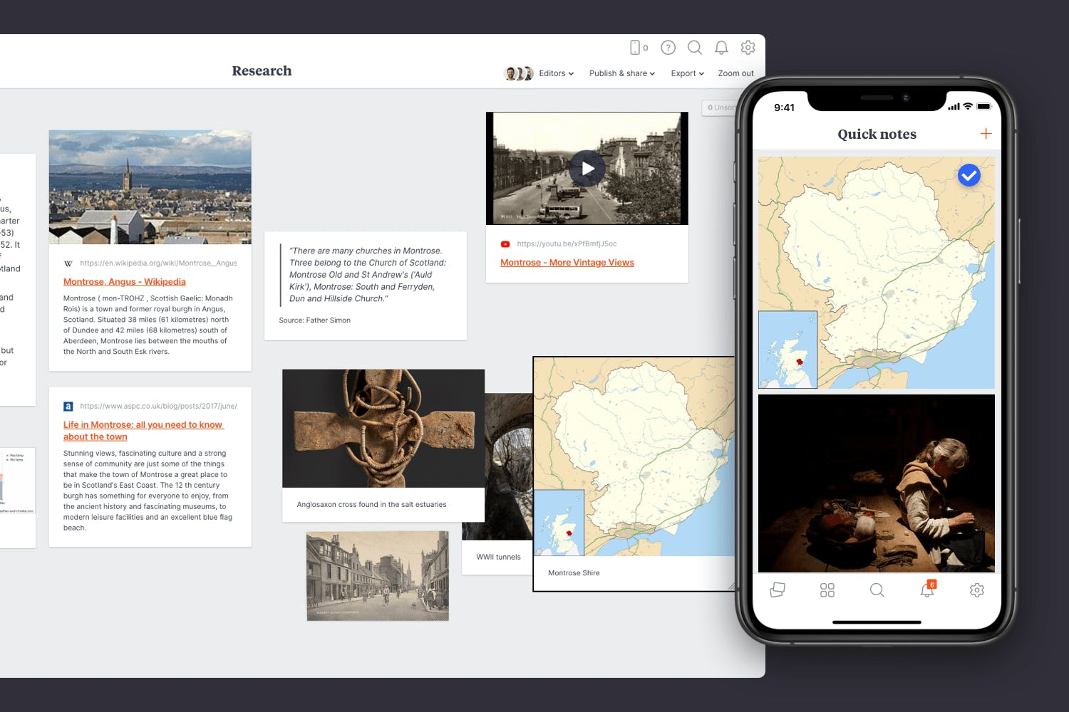 Collect research for your novel on your phone